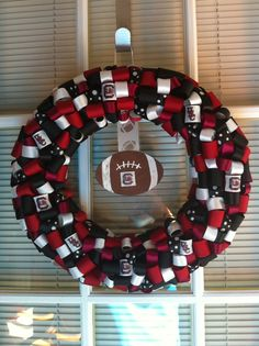 USC Gamecock ribbon wreath by KKsHandmadeWreaths on Etsy, $25.00