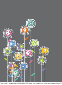 Freaking Flowers Vector Graphic
