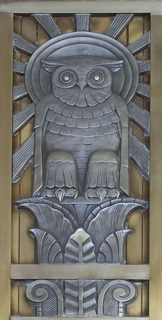 Art Deco Owl door