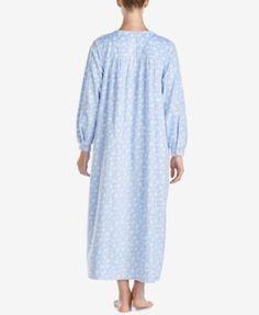 Lanz of Salzburg Ballet Lace-Trim Fleece Nightgown - Purple XL
