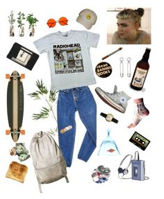 """""""Radiohead"""" by dilaraaygun on Polyvore featuring Pier 1 Imports, injury, PèPè, Converse, Toast, Moleskine, INDIE HAIR, art, androgynous and radiohead"""