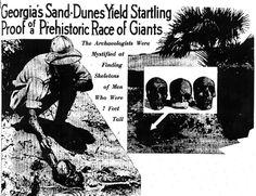 Nephilim Chronicles: Giant Human Skeletons: Giant Nephilim Skeletons Newspaper Headlines