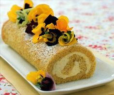 Lemon and Lime Roulade Recipe - http://www.allbakingrecipes.com/recipes/lemon-and-lime-roulade-recipe/