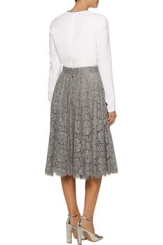 Dolce & GabbanaCorded lace skirtfront