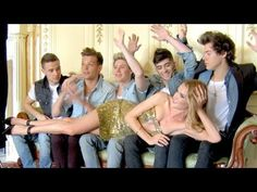 Glamour's One Direction Shoot with Rosie Huntington-Whiteley - YouTube
