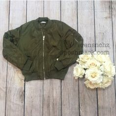 Kardashian Inspired Olive Green Bomber Jacket S Last one! Kim Kardashian / Kylie Jenner inspired bomber jacket. Size S. Fits a true small. Ships next day. Will drop down price to $55. Jackets & Coats