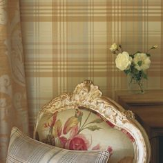 Modern Tartan is a contemporary but classic plaid tartan design wallpaper, using up to date colours. The iconic Mulberry tartan design and colour is also part of this Imperial collection. Tartan Wallpaper, Wallpaper Uk, Wallpaper Ideas, Tartan Decor, Wallpaper Collection, Mulberry Home, Old Cottage, Rustic Interiors, Cottage Interiors