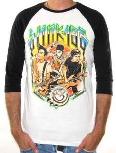 Blink 182, Baseball Jersey Shirt, Cartoon