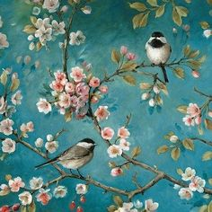 Make a romantic statement with the Tangletown Fine Art Blossom I Canvas Wall Art By Lisa Audit . This canvas wall art will elevate your space with. Chinoiserie Wallpaper, Paint By Number Kits, Photo Wallpaper, Bird Wallpaper Bedroom, Vintage Bird Wallpaper, Victorian Wallpaper, Vintage Wallpapers, Perfect Wallpaper, Textured Wallpaper