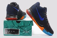 Nike Kyrie 3 Black Royal Blue Orange PE Men s Basketball Shoes fd6b1a282b