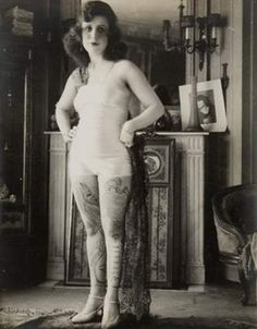 Tattooed French Prostitute c.1920s