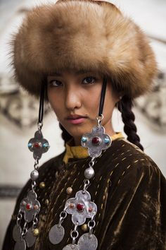 A Kyrgyz girl.