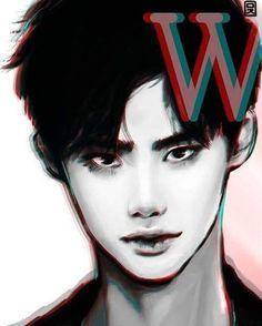 Lee Jong Suk Cute, Lee Jung Suk, W Korean Drama, Korean Art, W Two Worlds Art, W Two Worlds Wallpaper, Lee Jong Suk Wallpaper, Kang Chul, Korean Painting