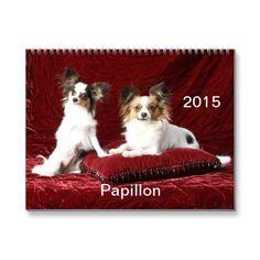 Papillon 2015 Calendar | Zazzle
