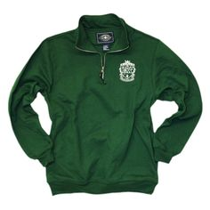 Kappa Delta Boutique: Green Crest Quarter Zip - size small