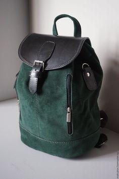 Buy Backpack from green nubuck 31 cm - dark red .- Buy Backpack from green nubuck 31 cm – dark green, plain, black, women& backpack - Leather Backpack, Fashion Backpack, Mochila Formal, Unique Backpacks, Vintage Backpacks, Leather Bags Handmade, Satchel Handbags, Leather Working, Accessories