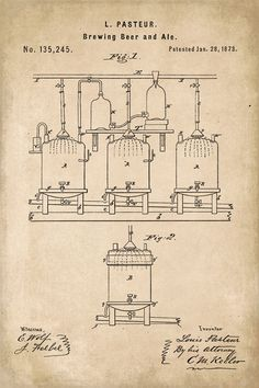 Keep Calm Collection - Beer Brewing Patent Art Poster Print (http://www.keepcalmcollection.com/beer-brewing-patent-art-poster-print/)
