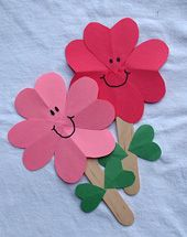 Kid's Crafts | Heart Flowers