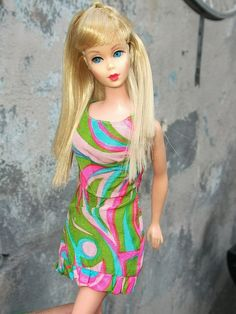 Twist n Turn Barbie- also sold with shorter, flipped hair