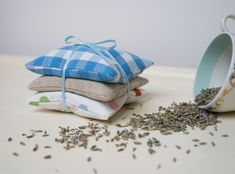 Gingham Lavender Bundle Blue.Just adorable for a baby boys room! Perfect for getting rid of that nappy smell