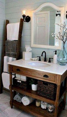 Cool 90 Cool Modern Farmhouse Bathroom Design Ideas https://homeastern.com/2018/02/01/90-cool-modern-farmhouse-bathroom-design-ideas/