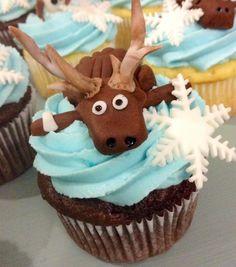 Sven Frozen cupcakes!