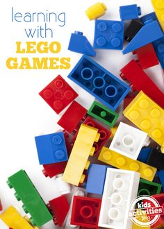 LEGO Ideas & Activities : Image : Description Fun Learning With Lego Games Projects For Kids, Crafts For Kids, Lego Math, Lego Lego, Preschool Activities, Alphabet Activities, Family Activities, Kids Education, Parenting Tips