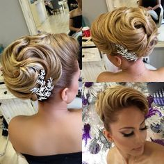 Hair by me makeup Linh Tran Style. Hair by me Bride Hairstyles, Vintage Hairstyles, Design Jobs, Hair Places, Competition Hair, Retro Wedding Hair, Blonder Bob, Natural Hair Styles, Long Hair Styles