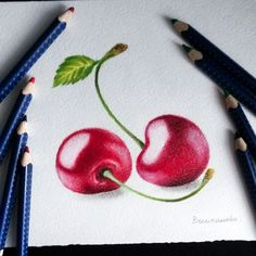 Colored Pencil Artwork, Coloured Pencils, Realistic Drawings, Colorful Drawings, Illustration Au Crayon, Art Sketches, Art Drawings, Drawings Pinterest, Color Pencil Sketch