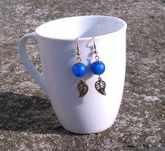 royal blue Venus Bead earrings