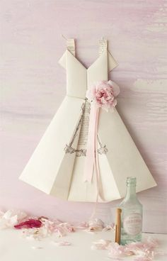 DIY Paper Dolls : DIY Origami Paper Dress