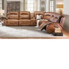 The Dump Furniture Outlet   CLOSEOUT: 6 PIECE POWER PLUS SECTIONAL