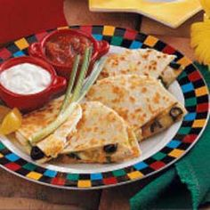 Basic Chicken Quesadillas can substitute shrimp for chicken.