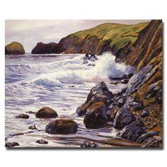 Trademark Fine Art David Lloyd Glover 'Summer Sea' Canvas Art