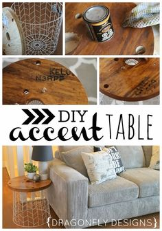 Dragonfly Designs: DIY Accent Table Tutorial