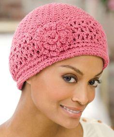 Cappello a uncinetto: schemi e modelli - Cuffia traforata