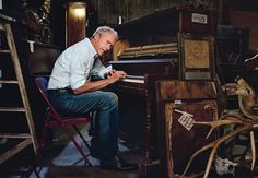 """""""I became kind of a jazz freak. I read every book there was on jazz"""" - Clint Eastwood Clint Eastwood, Martin Schoeller, Annie Leibovitz, Jazz, Wow Photo, Old Folks, Piano Songs, Film Director, American Actors"""