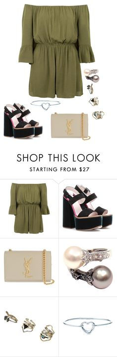 """Untitled #1213"" by kkearis ❤ liked on Polyvore featuring Topshop, Victoria Beckham, Yves Saint Laurent, Chanel and Tiffany & Co."