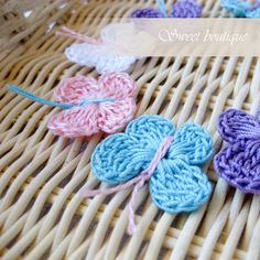 Crochet Tiny Butterfly appliques  Set of 9  for by MSweetboutique, $5.50