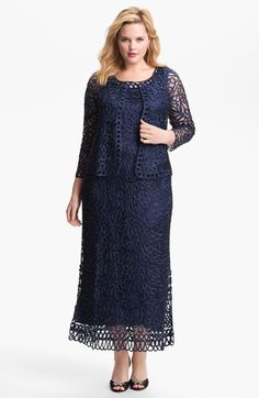Dresses Mother of the Bride and Groom Soulmates Crochet Dress with Jacket (Plus Size),Nordstrom wedding suite blog , Soulmates ,