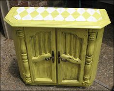 Tattered and Inked: Yellow Harlequin Table