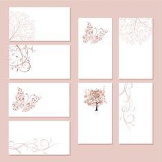 春をイメージした爽やかなナチュラル名刺テンプレート(EPS) - Free-Style                                                                                                                                                                                 もっと見る
