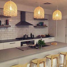 Rattan Pendant Light, Pendant Lights, Ceiling Canopy, Electrical Wiring, Shape Design, Light Shades, Kitchen Lighting, Hanging Lights, Home Kitchens