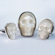 Mother of pearl skull rings  Ally!