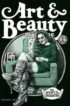 Robert Crumb - Art & Beauty Magazine (1996) Robert Crumb, Gilbert Shelton, Fritz The Cat, Bd Art, Gravure Illustration, Beauty Magazine, Illustrations, Comic Covers, Comic Artist