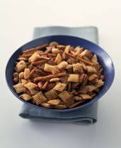 Real Original Chex Party Mix. Veganize it with Vegan Worcestershire sauce and Earth balance. GF pretzels. Nice gf snack for special occasions.