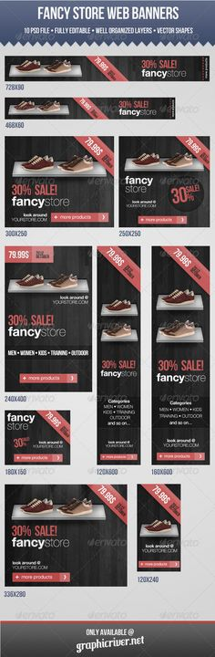 Fancy Store Web Banners @Graphicriver    http://graphicriver.net/item/fancy-store-web-banners/3076457?ref=hoodedclaw