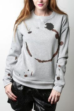 Pin for Later: 25 Amped-Up Gifts For Your Coffee-Obsessed Co-Worker  Coffee Mug Stain Sweatshirt ($72)
