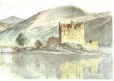 Acquarello. Scozia, Eilean Donan Castle.