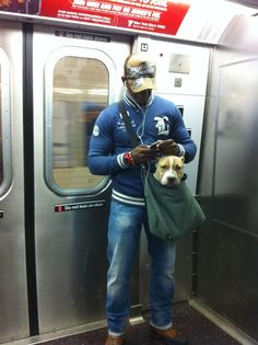 hahaha--I love it! I wonder if we could do this with Ezio...hang an 80lb dog on your shoulder?